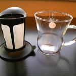 茶こしを取り外したHARIOマグ